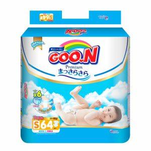 Bỉm - Tã dán Goon Premium size S 64 miếng (cho bé 4-8kg)